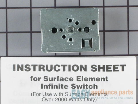 Surface Burner Element Switch - 8 Inch – Part Number: WP3149400